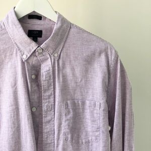 J Crew Mens Long Sleeve Striped Shirt M